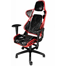 Cryo-PC Black and Red High Back Ergonomic Racing Style Swivel Gaming Chair