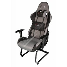 Cryo-PC Black and Grey High Back Ergonomic Racing Style Gaming Chair with Sled Style Stand