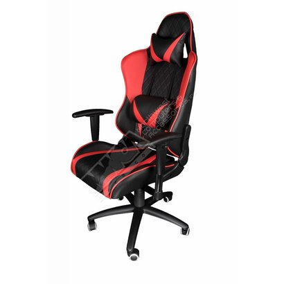 Cryo-PC Black and Red Leather Ergonomic Racing Style Swivel Chair