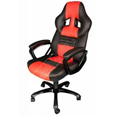 Cryo-PC Black and Red Leather High Back Ergonomic Swivel Gaming Chair