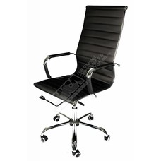 Cryo-PC Black Leather High Back Ergonomic Office Swivel Chair