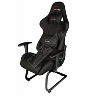 Cryo-PC Black High Back Ergonomic Racing Style Gaming Chair with Sled Style Stand