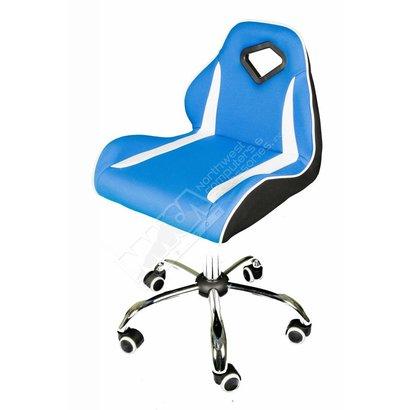 Cryo-PC Blue and White Mesh Swivel Bar Chair