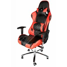 Cryo-PC Black and Red Leather High Back Ergonomic Racing Style Swivel Gaming Chair