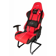 Cryo-PC Red and Black High Back Ergonomic Racing Style Gaming Chair with Sled Style Stand