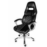 Cryo-PC Black Leather Ergonomic Executive Swivel Chair