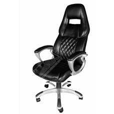 Cryo-PC Black Leather Ergonomic Executive Swivel Chair