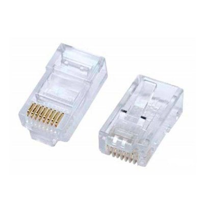 Bulk Bag of RJ45 Cat5e Crimp Connectors, for Solid or Stranded Wire (20 - 100 Pack)