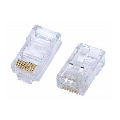 Bulk Bag of RJ45 Cat5e Crimp Connectors, for Solid or Stranded Wire (20 - 100 Pack)