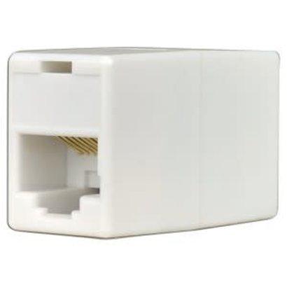 RJ45 Cat5e Cat6 Female to Female Ethernet Inline Coupler (White)