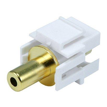 Keystone Jack - 3.5mm Stereo, Flush Type (White)