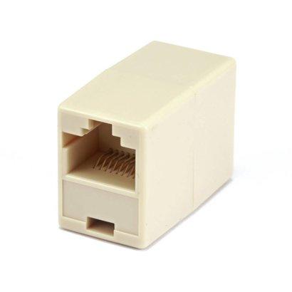 RJ45 Cat5 Ethernet Crossover Adapter Male Female, Beige