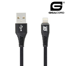 Gigacord Gigacord iPhone USB Charging Cable Black Nylon (1 - 10ft.)