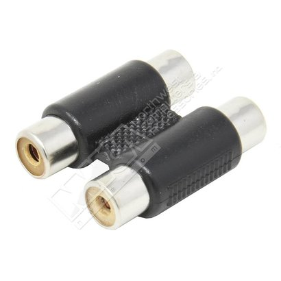 Dual RCA inline 2-RCA Jacks to 2-RCA Jacks Coupler