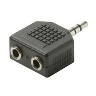 3.5mm 1M/2F Y Stereo Adapter