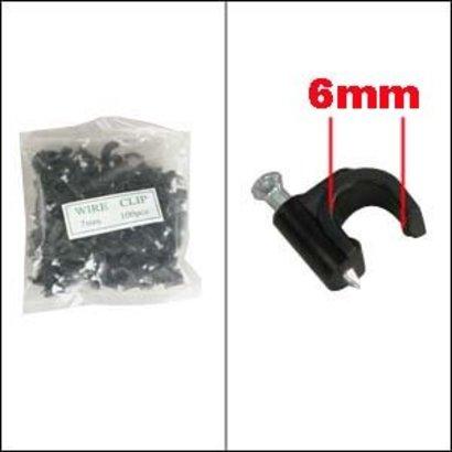 Nail-in Clip RG59 Black 100pk
