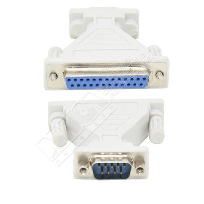 DB9-Male DB25-Female Serial Adapter, Thumbscrew(DB25)/Nut(DB9)