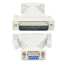 DB9-Female DB25-Male Serial Adapter, Thumbscrew(DB25)/Nut(DB9)