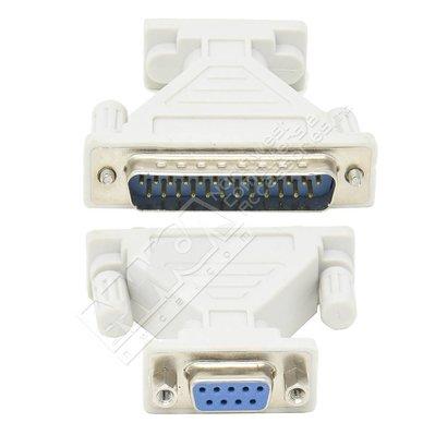 DB9-Female DB25-Male Serial Adapter, Thumbscrew(DB25)/Nut(DB9)
