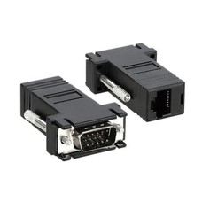 VGA Male to RJ45 Female Cat5e Extender, Black