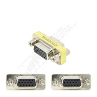 VGA Gender Changer Coupler Adapter, HDDB15 Female/Female, Slim Style