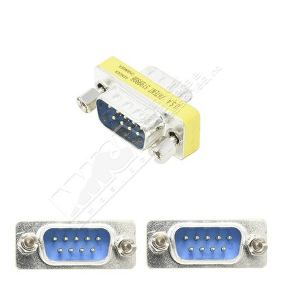DB9 Male Male Slim Gender Changer Adapter Serial RS232 Coupler