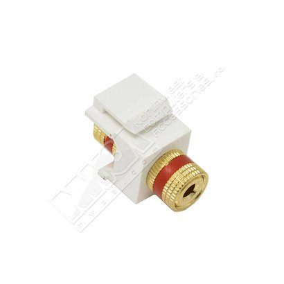 Banana Plug Keystone Insert Red