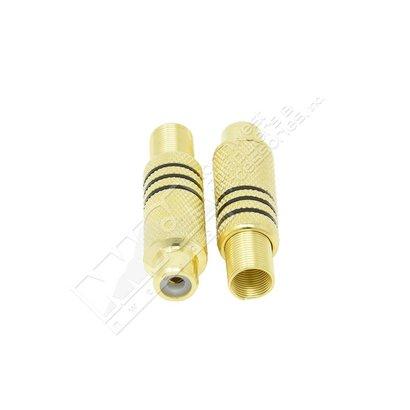 RCA Female Plug Metal Gold Plated w/Spring Black