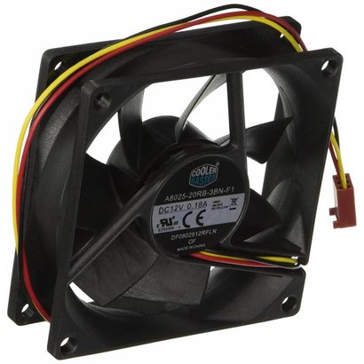 Coolermaster Cooler Master Rifle Bearing 80mm Silent Cooling Fan for Computer Cases and CPU Coolers  R4-S8R-20AK-GP