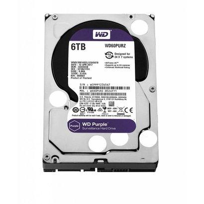 WD WD Purple 6TB Surveillance Hard Disk Drive - 5400 RPM Class SATA 6 Gb/s 128MB Cache 3.5 Inch - WD60PURZ