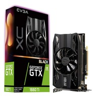 EVGA eVGA GeForce GTX 1660 Ti XC Black Gaming, 6GB GDDR6, HDB Fan Graphics Card 06G-P4-1261-KR