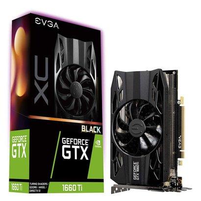 EVGA eVGA GeForce GTX 1660 Ti XC Black Gaming, 6GB GDDR6, HDB Fan Graphics Card 06G-P4-1261-KR