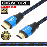 Gigacord Gigacord 2.0 HDMI Cable 18Gbps 4K 30AWG Braided Cable (3 - 98ft.)