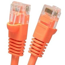 Cat.6 Crossover Cable Orange w/Boot (3 - 25ft.)
