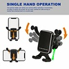 Cell Phone Holder for Car, Qelebet Gravity Auto Clamping Air Vent Car Phone Mount Holder Compatible with iPhone Xs MAX/XS/X/8/7/6/Plus, Samsung S9/S8/S7/Plus, LG, HTC and More(Black)