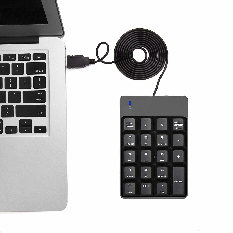 USB Numeric Keypad, Jelly Comb N001 Portable Slim Mini ...