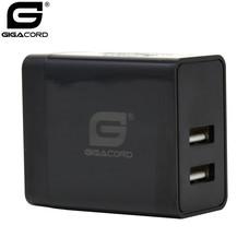 Gigacord Gigacord 2-Port USB 4.8A (2x2.4A) Wall Charger, Foldable Plug, Black