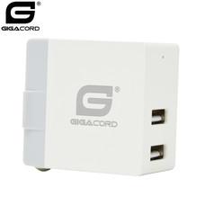 Gigacord Gigacord 2-Port USB 3.1A Wall Charger, Foldable Plug, White
