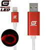 Gigacord Gigacord iPhone LED Flowing Cable, Red (Choose Length)