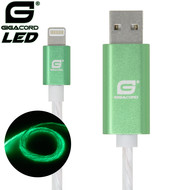 Gigacord Gigacord iPhone LED Flowing Cable, Green (Choose Length)