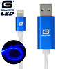 Gigacord Gigacord iPhone LED Flowing Cable, Blue (Choose Length)