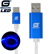 Gigacord Gigacord USB-C Type-C LED Flowing Cable, Blue (Choose Length)
