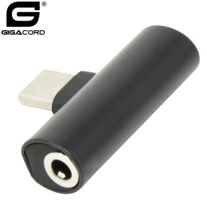 Gigacord Type C to 3.5mm Headphone/Type-C T Adapter (Choose Color)