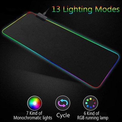 "CPC Large RGB LED Gaming Mouse Pad 31.5""x11.8"""