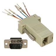 DB9 Female to RJ45 Modular Adapter, Gray