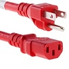 Power Cord C13-515P SJT 125V 15Amp Red (3 - 6ft.)