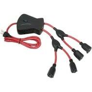 Prime 4 Foot 6-Outlet (4 Flexible, 2 built in) Spyder Squid Power Cord, 15A 125V 1875W Spyder50 Prime 054732813384 Red Black