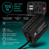 Gigacord Gigacord 150W Car Inverter DC12V to AC110V with 2-USB