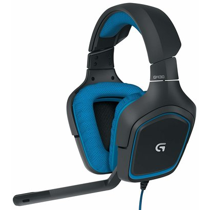 Logitech Logitech G430 7.1 DTS Headphone: X and Dolby Surround Sound Gaming Headset for PC, Playstation 4 – On-Cable Controls – Sports-Performance Ear Pads – Rotating Ear Cups – Light Weight Design