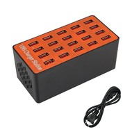 Gigacord 20 Port 90 Watt USB Charger Rapid Charging Station Desktop Travel Hub iPhone Android